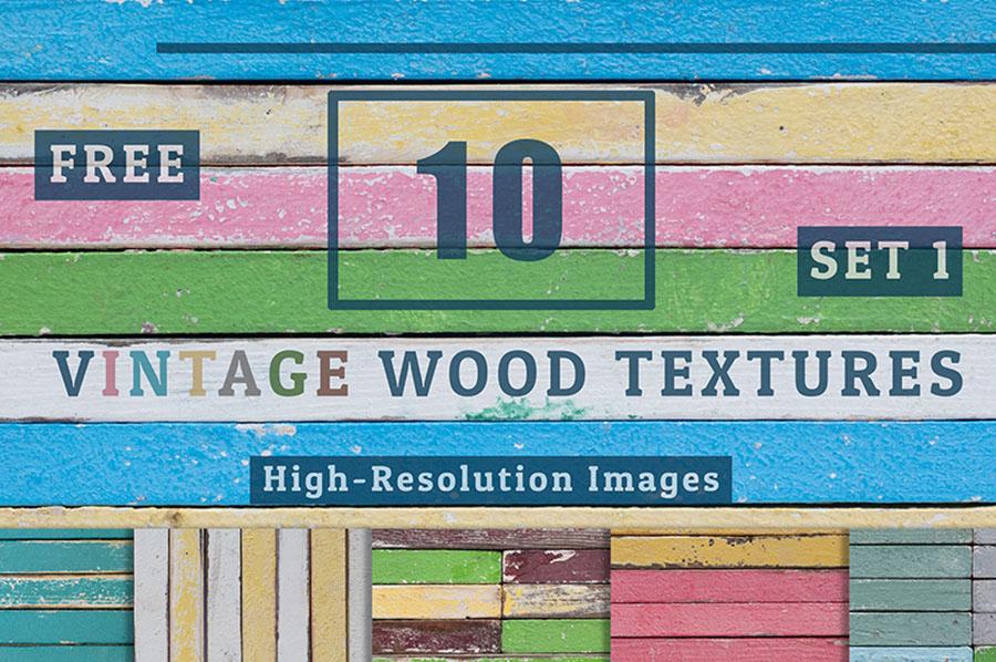 10 Vintage Wood Textures