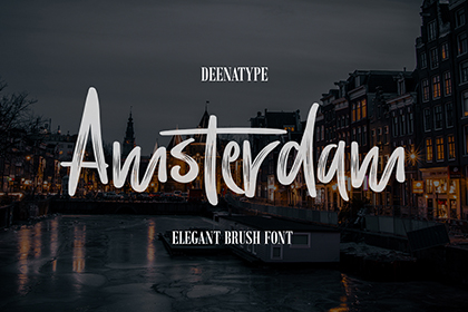 Amsterdam Brush Font Demo