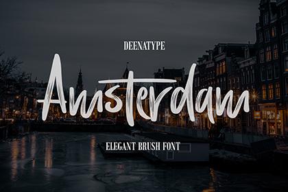Amsterdam Brush Font Demo