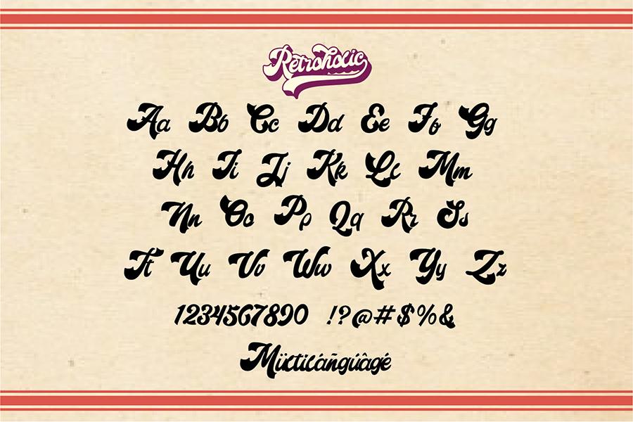 Retroholic Script Font Demo