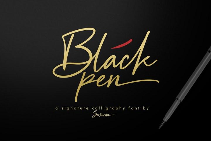 Black Pen Script Free Demo
