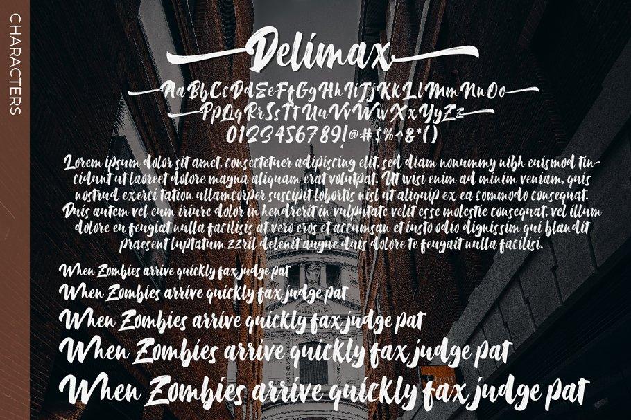 Delimax Brush Font Demo