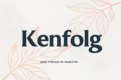 Kenfolg Serif Free Demo