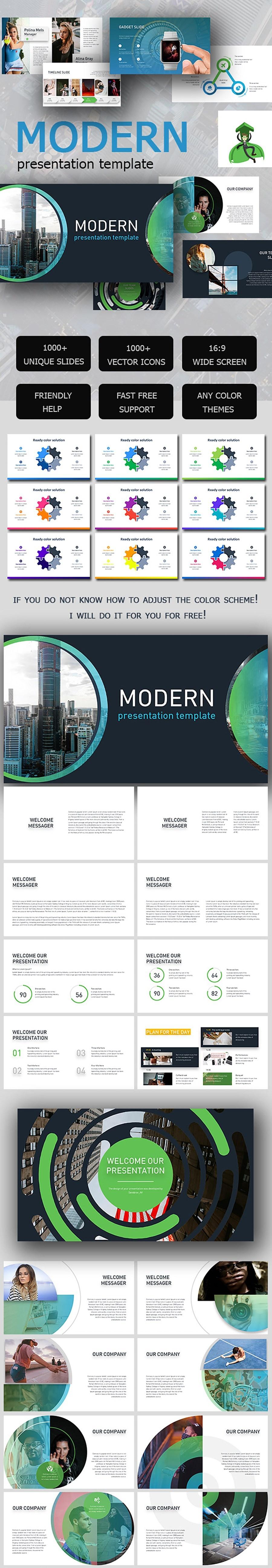 Free Modern Presentation Template