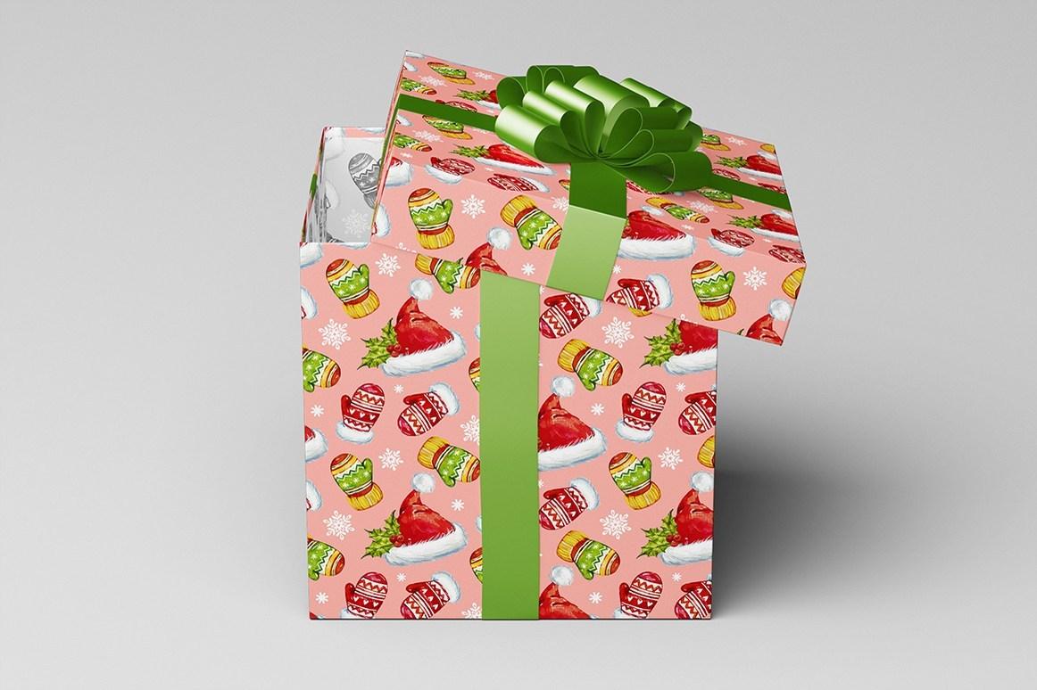 Square Gift Box Mock-Up