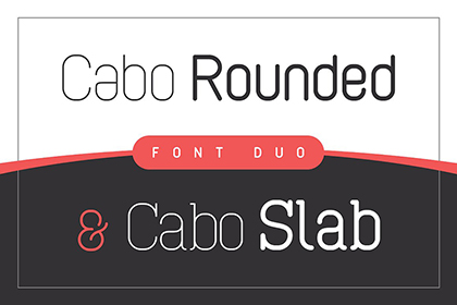 Cabo Rounded Slab Font