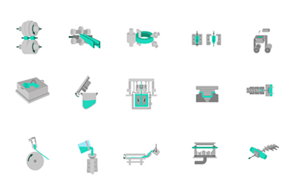 Manufacturing Vector Icons