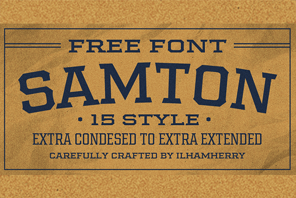Samton Free Font Family