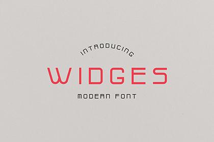 Widges Modern Font Demo