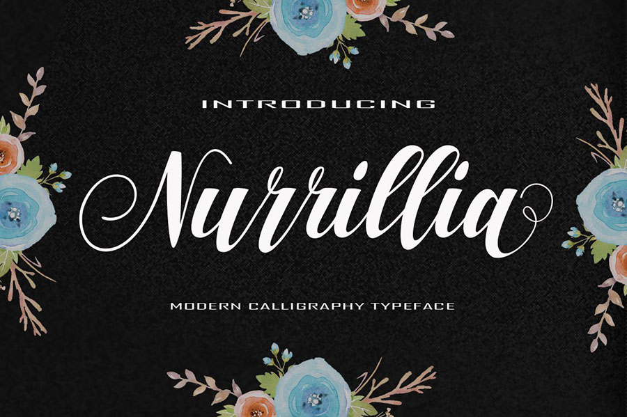 Nurillia Calligraphy Script Font