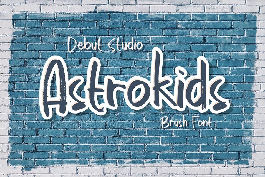 Astrokids Brush Lettering Font
