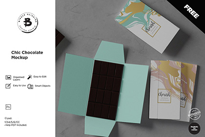 Chic Chocolate PSD Mockup