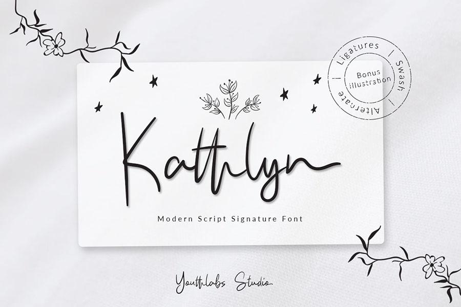 Kathlyn Signature Font Demo