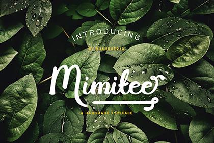Mimitee Script Font Demo
