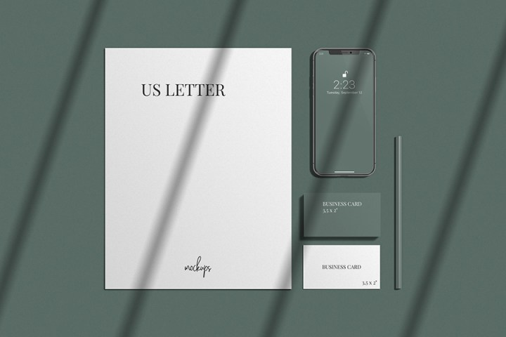 Stylish Stationery Branding Mockup