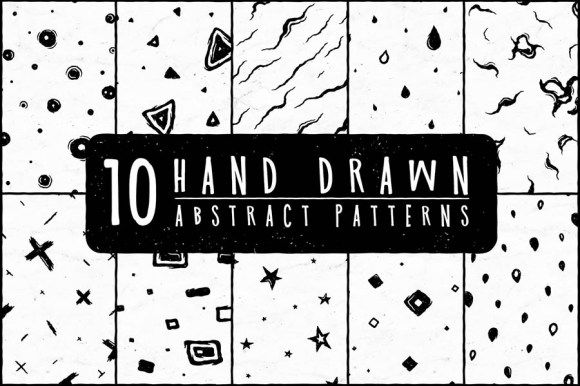 10 HandDrawn Abstract Patterns