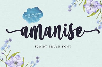 Amanise Script Font Demo