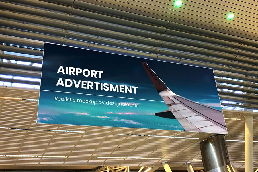 Free Airport Ads Mockup