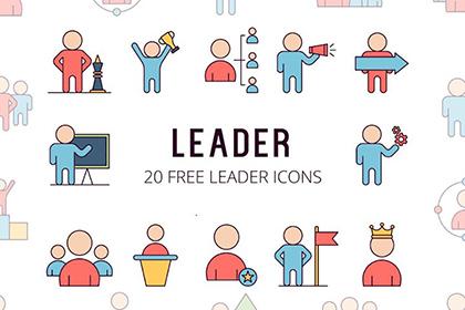 Leader Vector Icon Set