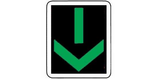 Lane use control: a lighted green arrow