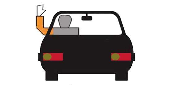 Driver hand signals