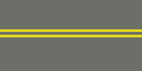 Two solid yellow lines
