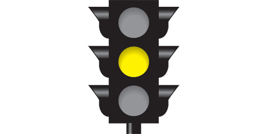 Steady yellow light