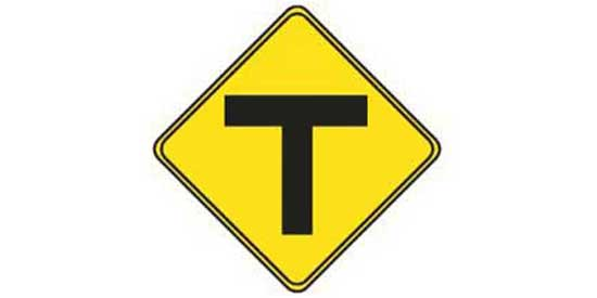 Yellow road sign - road sign quiz