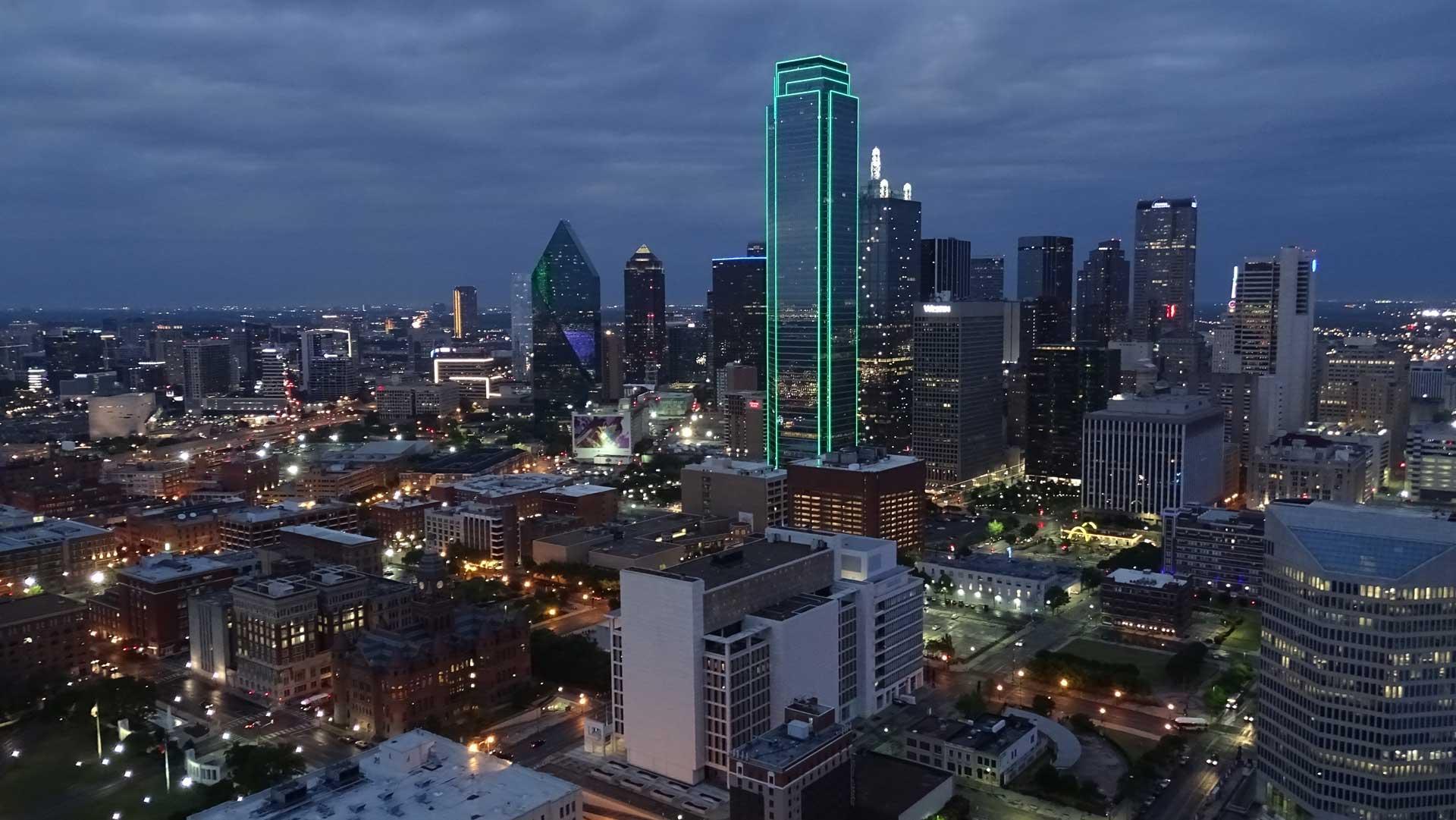 Dallas skyline – copyright xzelenz media
