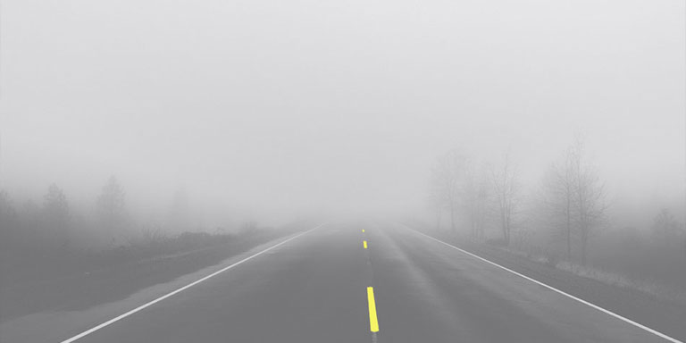 Free DMV test questions about driving in fog