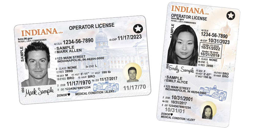 Indiana Driver's Licenses - Real ID - Free DMV Test