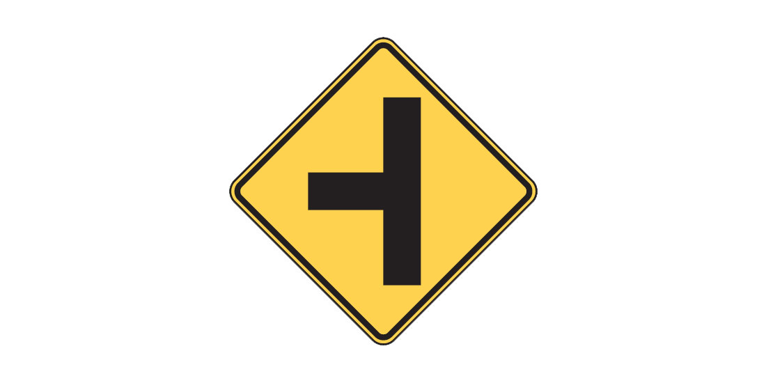 Intersection Sign W2-2 LEFT