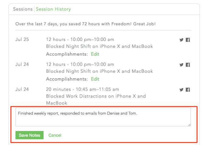 annotate your sessions