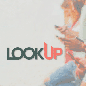 Look Up Challenge graphic - students on their phones