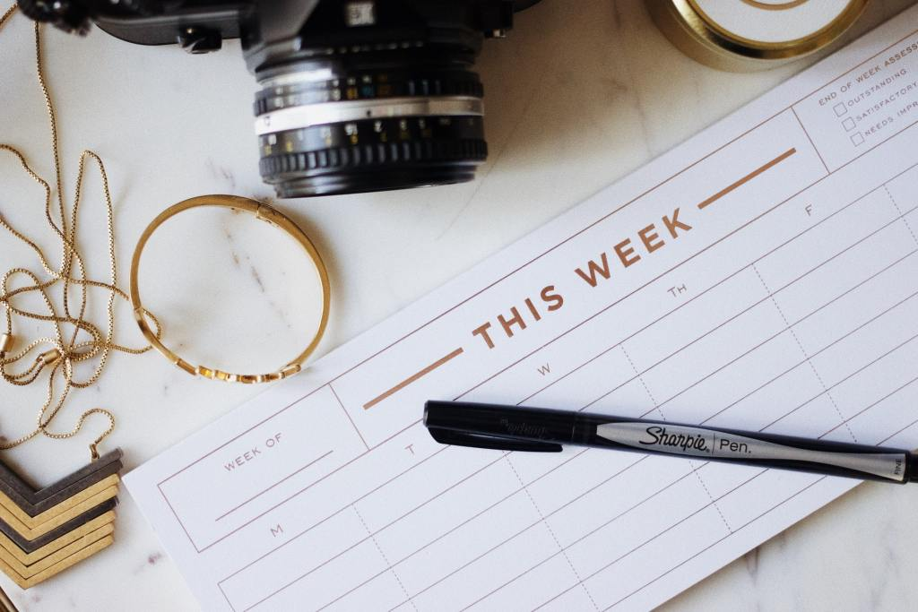 Schedule your motivation - plan what you will do each week