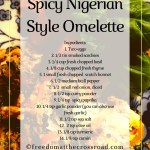 Omega-rich Spicy Nigerian Fusion Omelette
