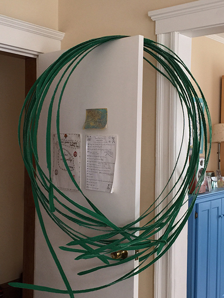Grass Extension, a batch of fronds, 10', with copper wire inserted