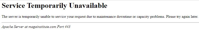 MAGA Institute Temporarily Unavailable