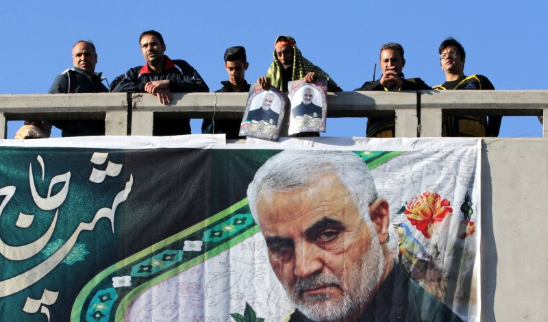 Propaganda banners of Qasem Soleimani destroyed in various Iranian cities