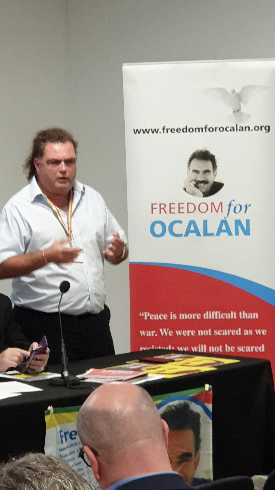 "Manuel Cortes, General Secretary TSSA speaking at ""The battle for Turkey's future"" fringe at TUC 2019 Freedom for Ocalan"