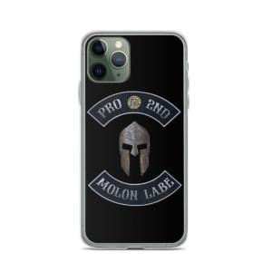 Pro 2nd Amendment - Molon Labe - Spartan Helmet iPhone 11 Pro Case