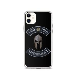 Pro 2nd Amendment with Spartan Helmet iPhone 11 Case