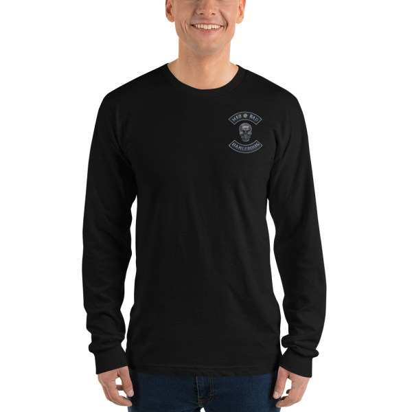 Black Long sleeve t-shirt Mad, Bad and Dangerous Rockers with Skull Front