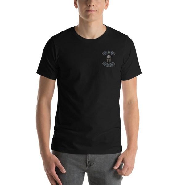 Black Pro 2nd Amendment Molon Labe with Spartan Helmet Short-Sleeve Unisex T-Shirt