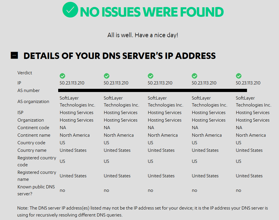 Router Checker DNS Details