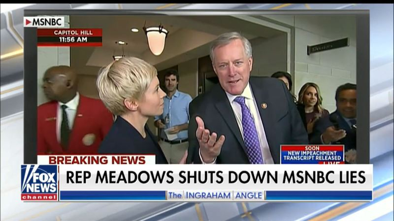 Rep. Meadows Shuts Down MSNBC Reporter After Getting Caught On Video in Anti-Republican Bias