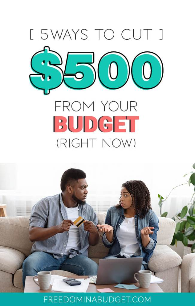 What do you do when you have more month left at the end of your money, an unexpected bill comes and you can't pay it? Today I'm sharing how to cut $500 from your budget, today!