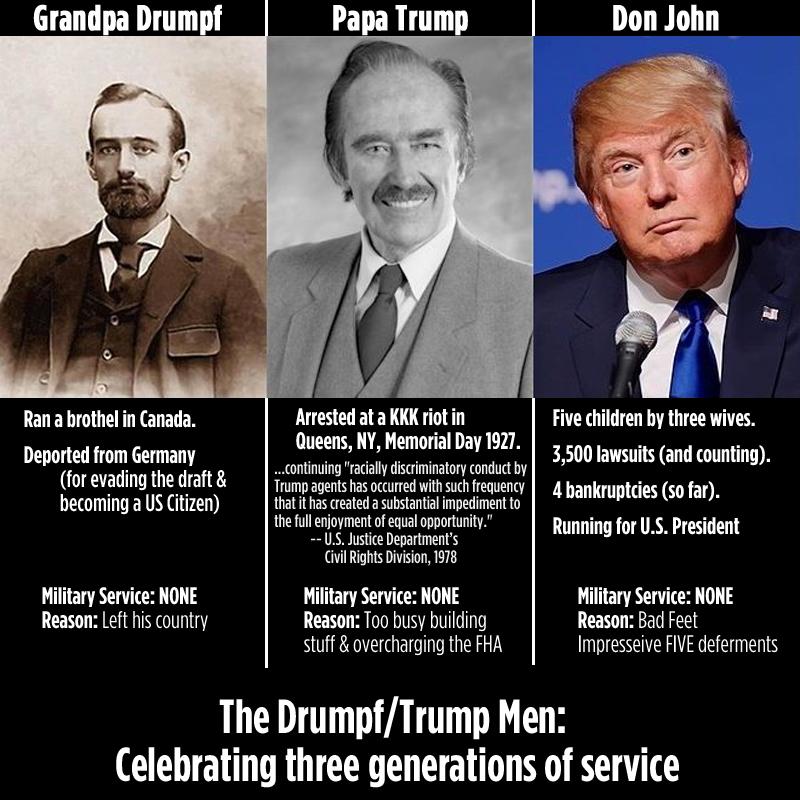 Drumpf-men-service