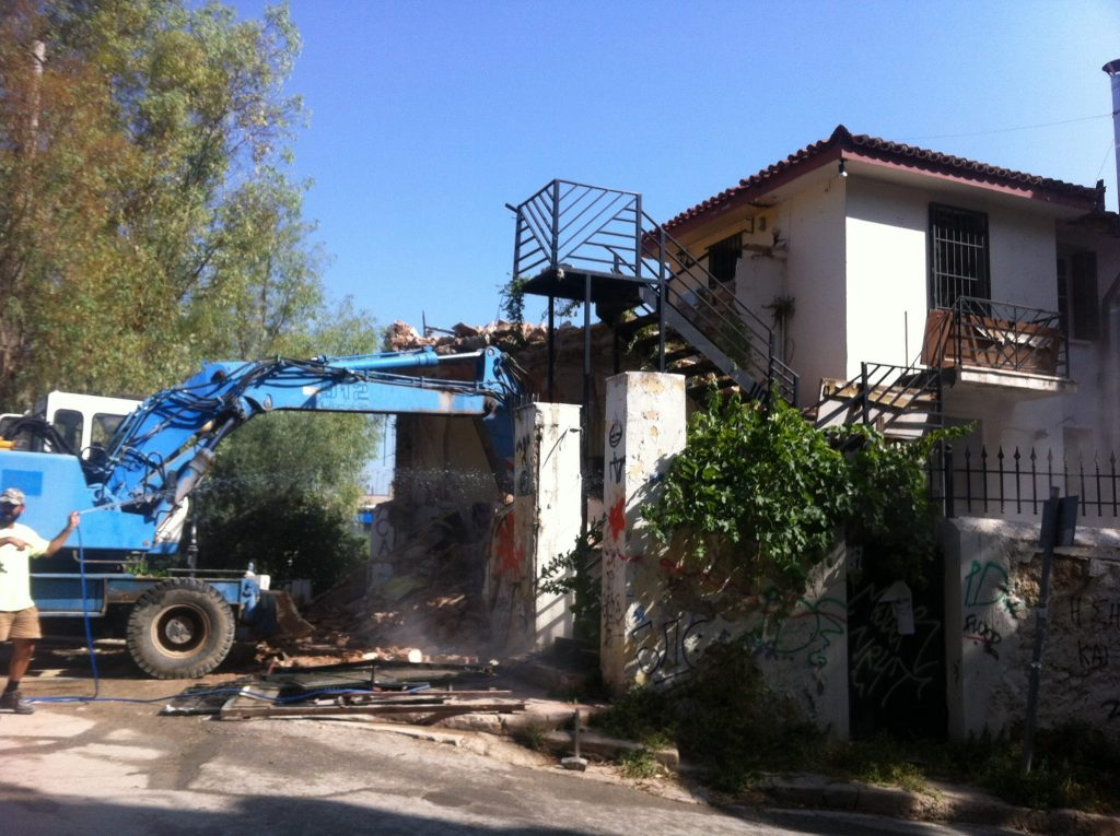 Greece: occupied gym in Exarchia evicted and demolished
