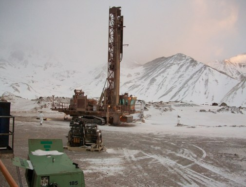 Mining equipment at Veladero, high in the mountains. Pic: Antonio Gritta